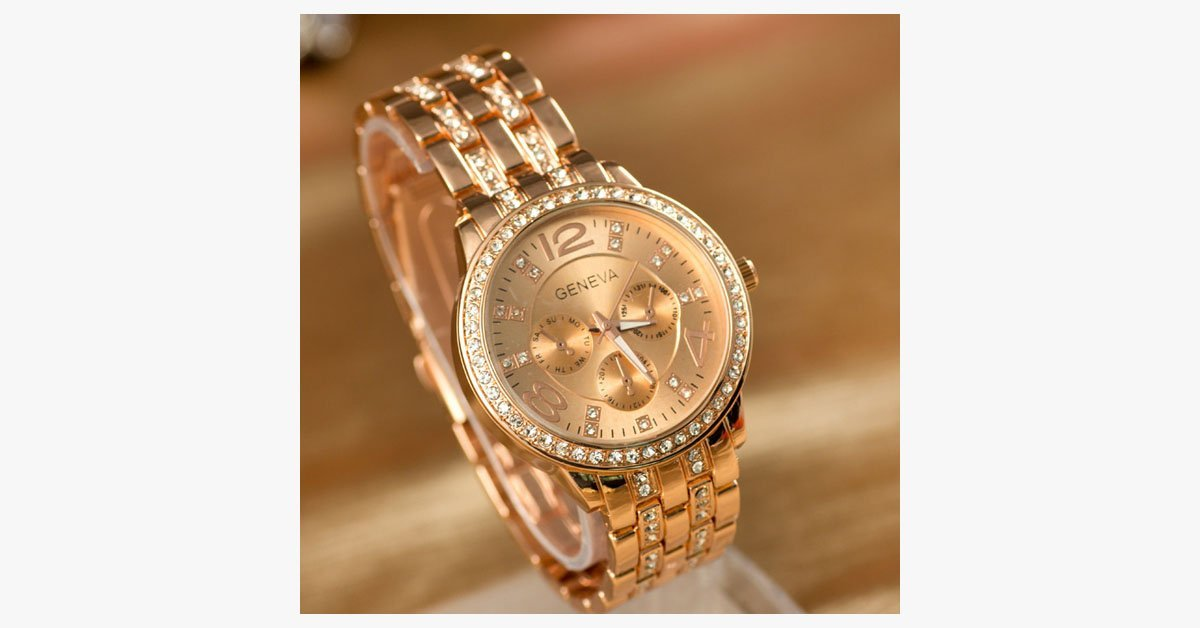 Exquisite Gold Plated Watch - FREE SHIP DEALS