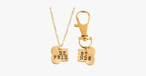 Best Friend Dog Bone Pendant Keychain Set - FREE SHIP DEALS