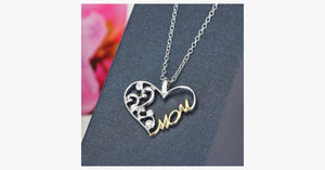 Double Color Mom Heart Pendant Necklace - FREE SHIP DEALS