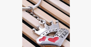 King and Queen Keychain - FREE SHIP DEALS