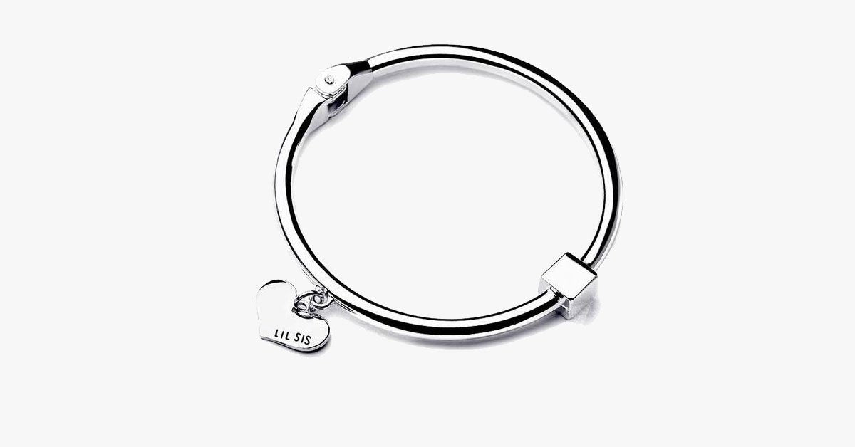 Big Sis Lil Sis Charm Bangle Set - FREE SHIP DEALS