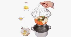 Foldable Fry Basket Kitchen Cooking Tool - FREE SHIP DEALS
