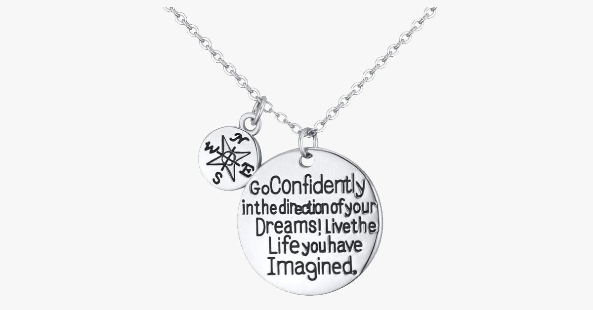 Dream Confidently Charm Pendant - FREE SHIP DEALS