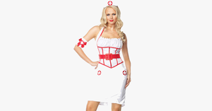 On Call Nurse Halloween Costume - FREE SHIP DEALS
