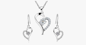 Crystal Heart Pendant Set - FREE SHIP DEALS