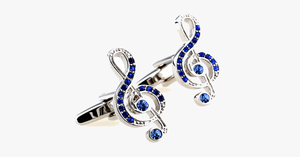 Music Lover Blue Gem Cufflink - FREE SHIP DEALS