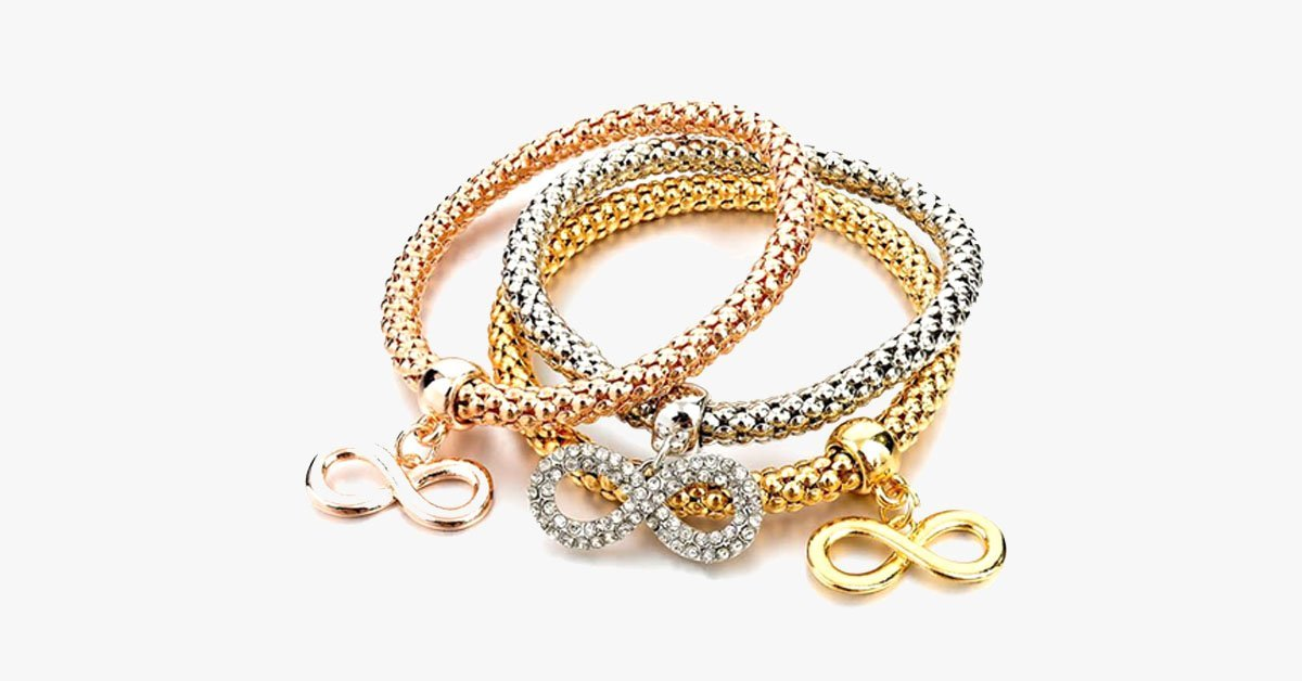 Mesh Multi-layer Three Color Bracelet