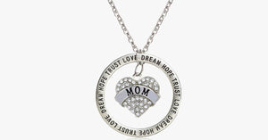 Love Trust Mom Engraved Pendant - FREE SHIP DEALS