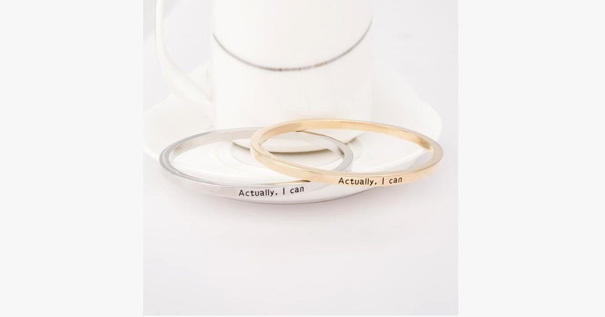 Actually I Can Bangle - FREE SHIP DEALS
