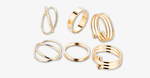 6pc Gold Stackable Ring Set - FREE SHIP DEALS