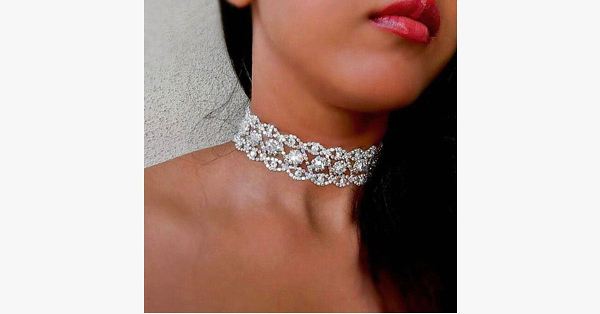 Luxury Beads Collar Choker Necklace - FREE SHIP DEALS