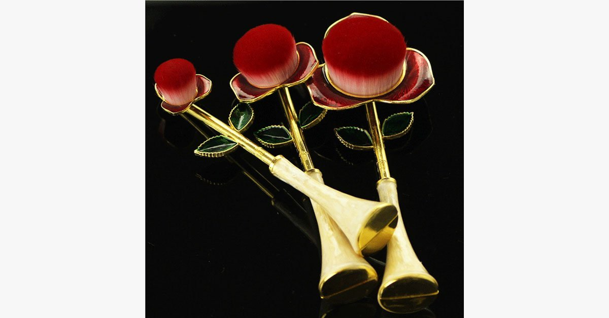 Rose Beauty Flawless Face Oval Brush Set