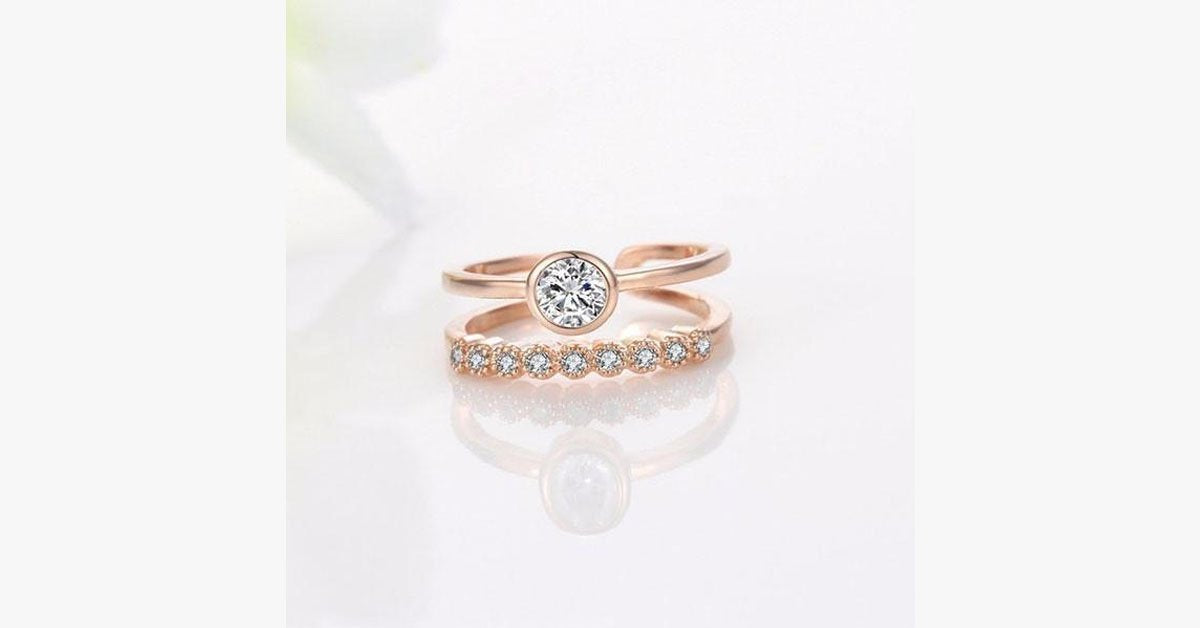 Rose Gold Fashion Joint Ring