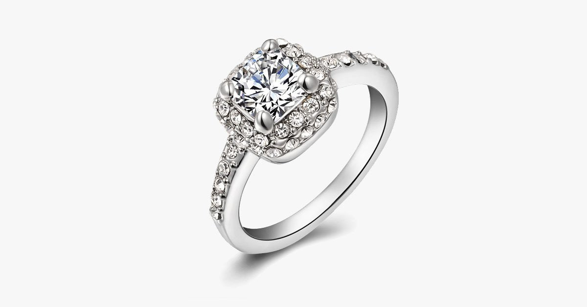 Cubic Crystal Promise Ring - FREE SHIP DEALS