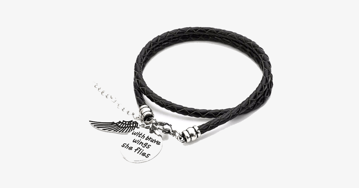Brave Wings - Hand Stamped Bracelet - FREE SHIP DEALS