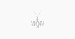 "Diamond Accent  MOM Pendant with 18"" Chain - FREE SHIP DEALS"