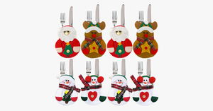 8 Pieces Christmas Tableware Holder