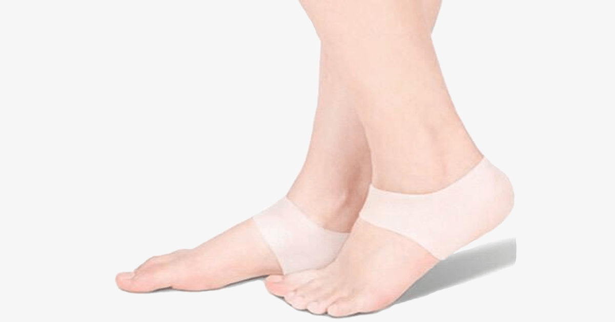 Silicone Gel Heel and Ankle Sleeve for Plantar Fasciitis