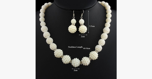 Handmade Pearl Beads Necklace - FREE SHIP DEALS