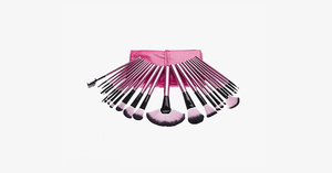 24 Piece Professional Makeup Brush Set with Case - Hot Pink - FREE SHIP DEALS