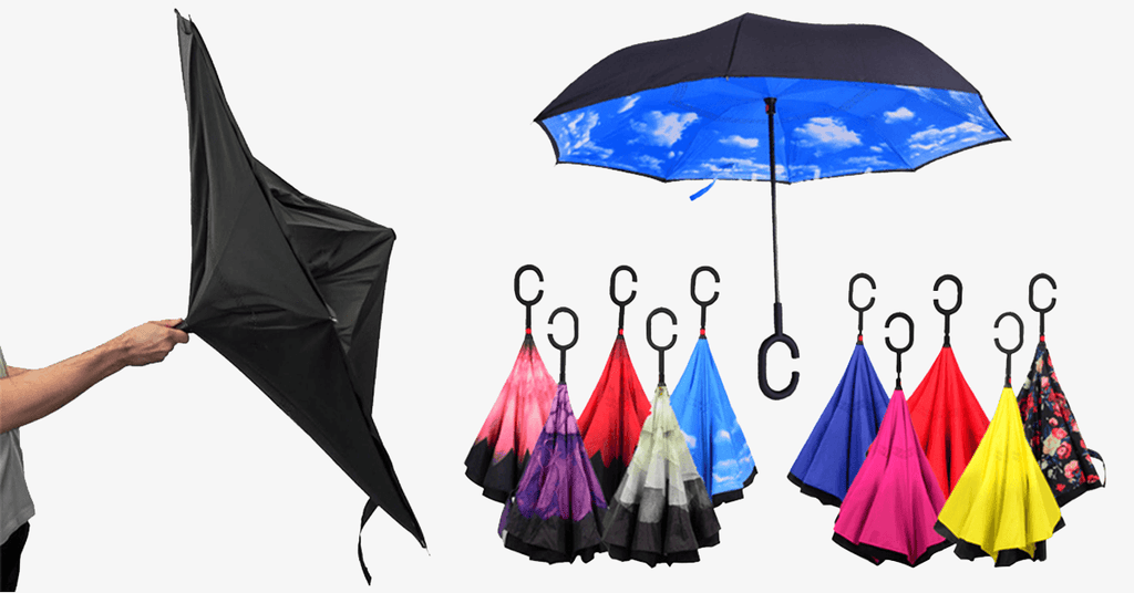 Magic Reversible Umbrella - FREE SHIP DEALS