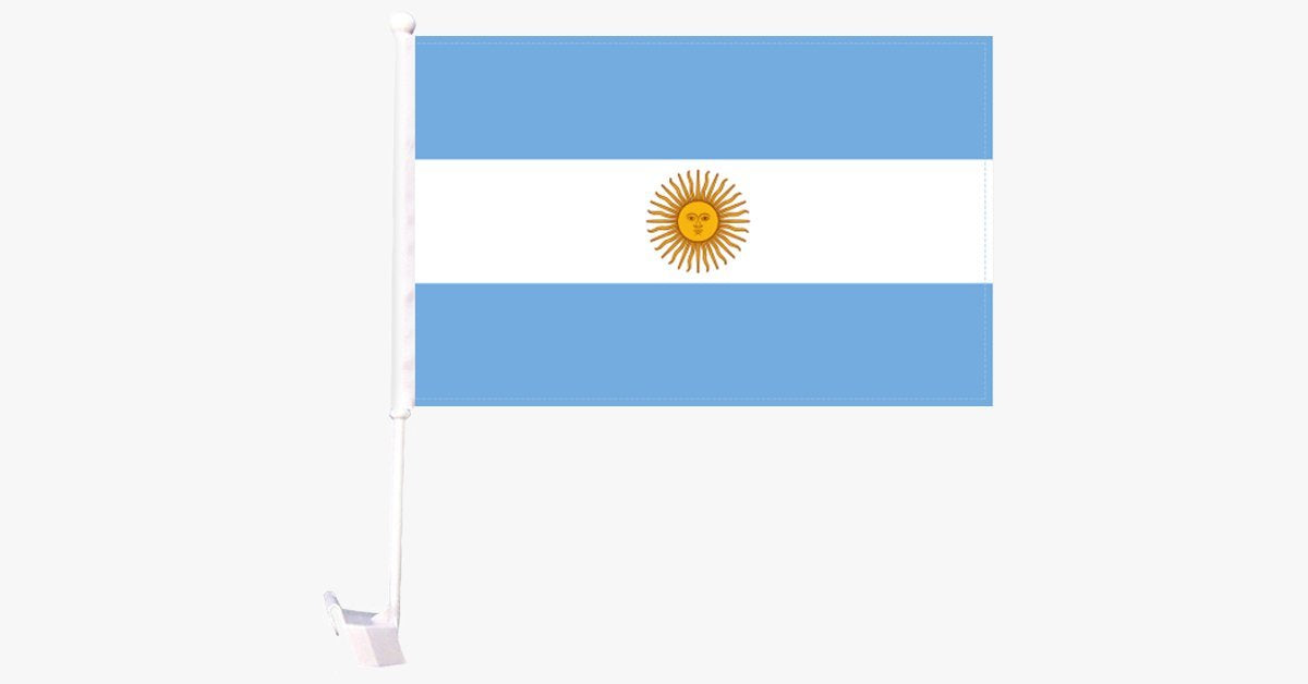 Argentina Flag Car Window Pole Decoration - FREE SHIP DEALS