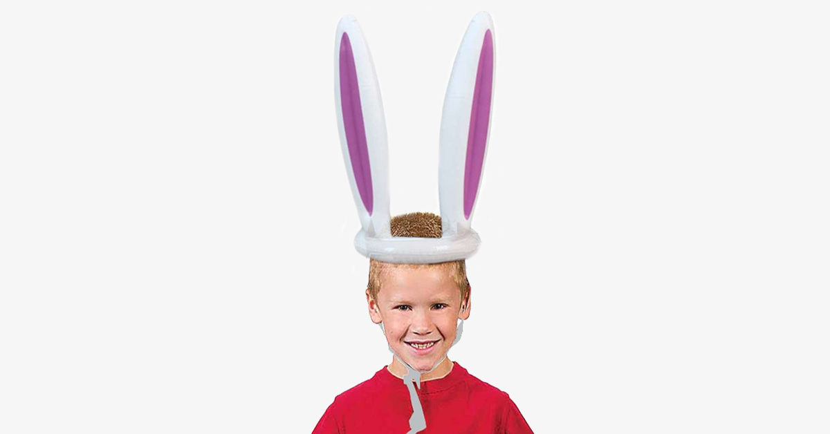 Inflatable Bunny Ears Hat