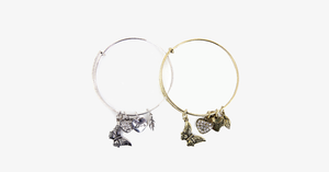 Butterfly Love Charm Bangle - FREE SHIP DEALS