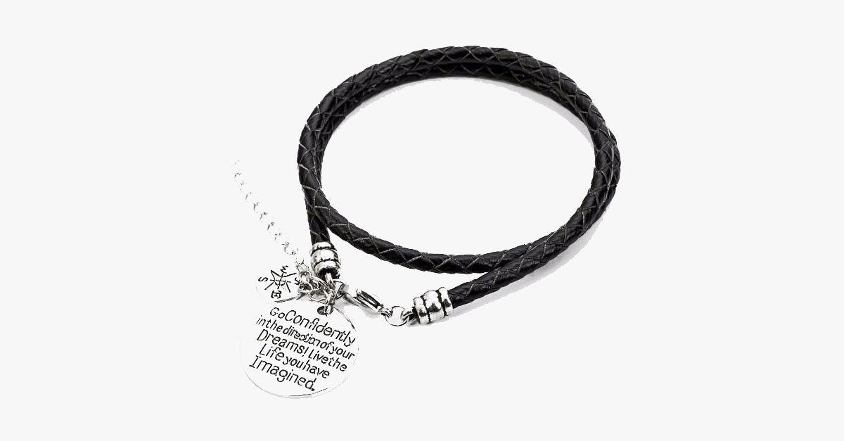 Confidently Dream - Hand Stamped Bracelet - FREE SHIP DEALS