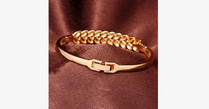 18K Yellow Gold Plated Bracelet - FREE SHIP DEALS
