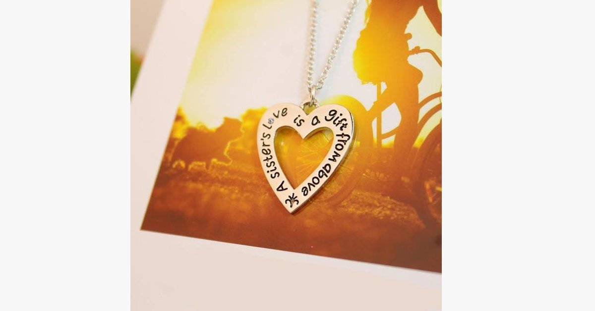 A Sister's Love is a Gift From Above - Pendant - FREE SHIP DEALS