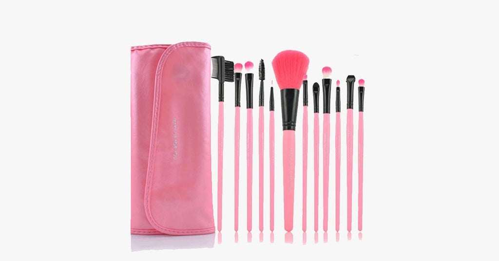 12 Piece Pink Glory Brush Set - FREE SHIP DEALS