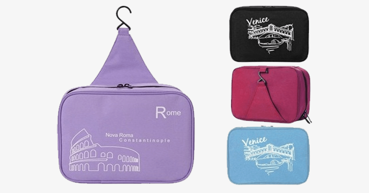 Cosmetic Pouch Toiletry Bags - Travel Hanger Handbag Waterproof Compact Hanging Personal Care Hygiene Purse