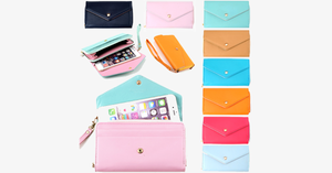 3-in-1 Stylish Smartphone Wallet Purse & Wristlet - FREE SHIP DEALS