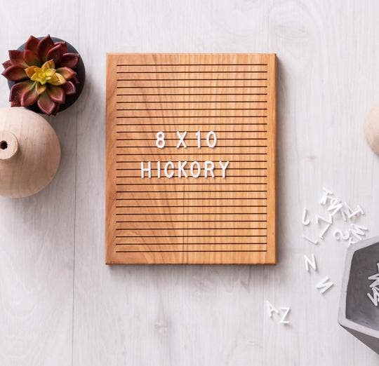 Madera Modern - 8 x 10 Hickory Sapling Letter Board