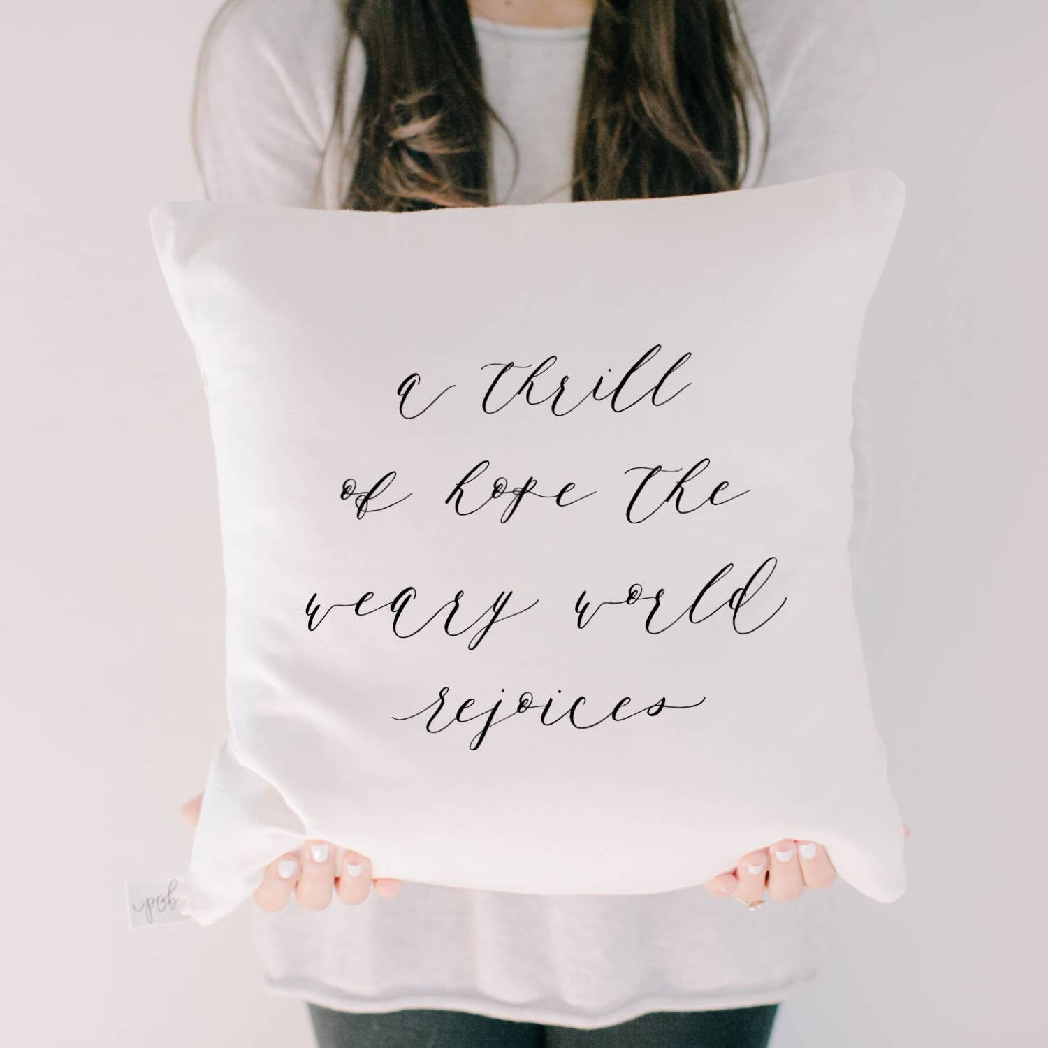 PCB Home - A Thrill of Hope Throw Pillow