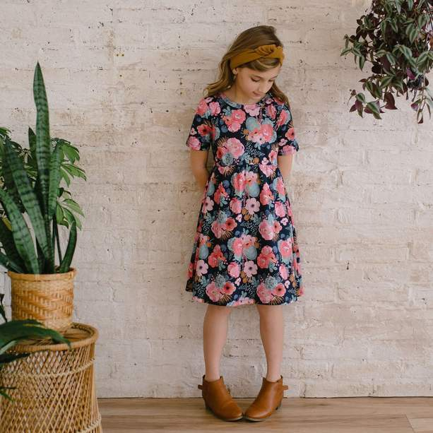 Youth Daphne Dress Cactus Floral