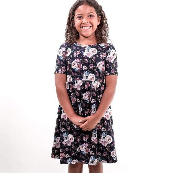 Youth Daphne Dress Watercolour Floral