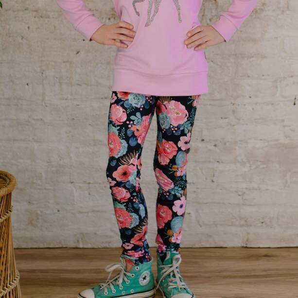Youth Leggings Cactus Floral