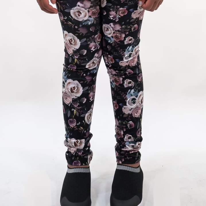 Youth Leggings Watercolour Floral