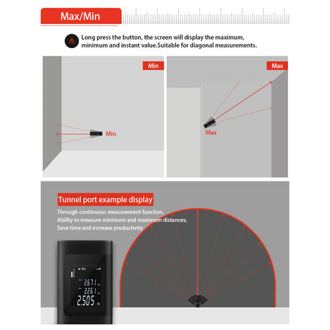 Portable Pocket Laser Range Finder For Indoor Use