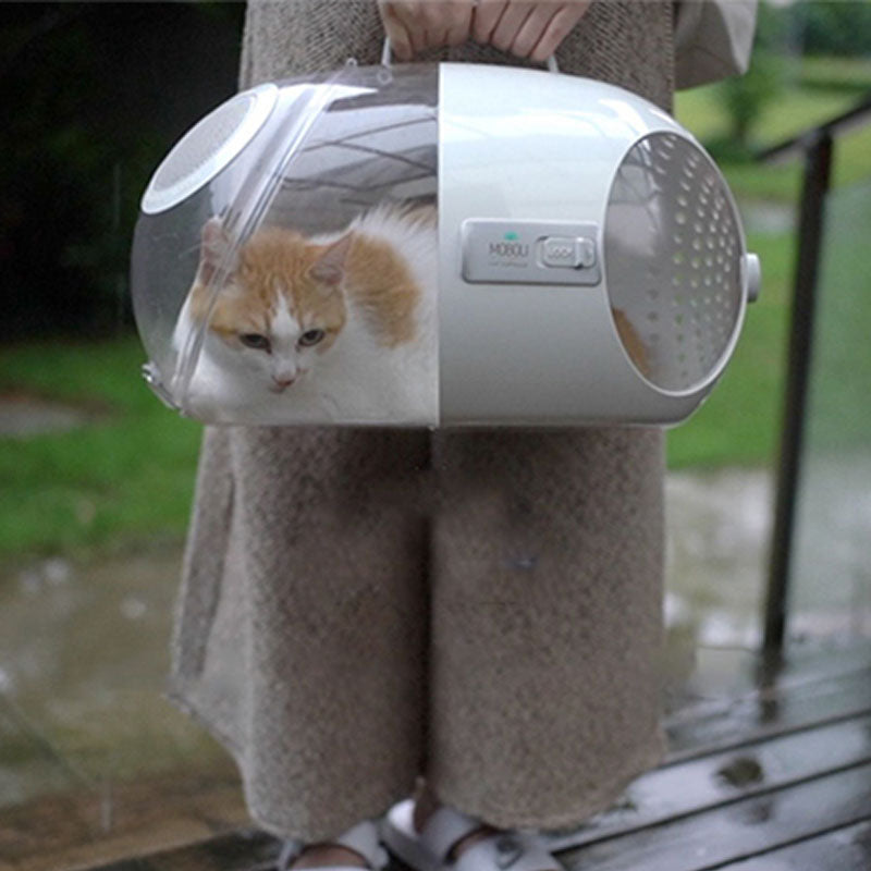 Luxury Cat Carrier Transparent Pet Capsule Transport Box Cats Bag Space Handbag ABS Cat Carrying Dog Box Travel Products