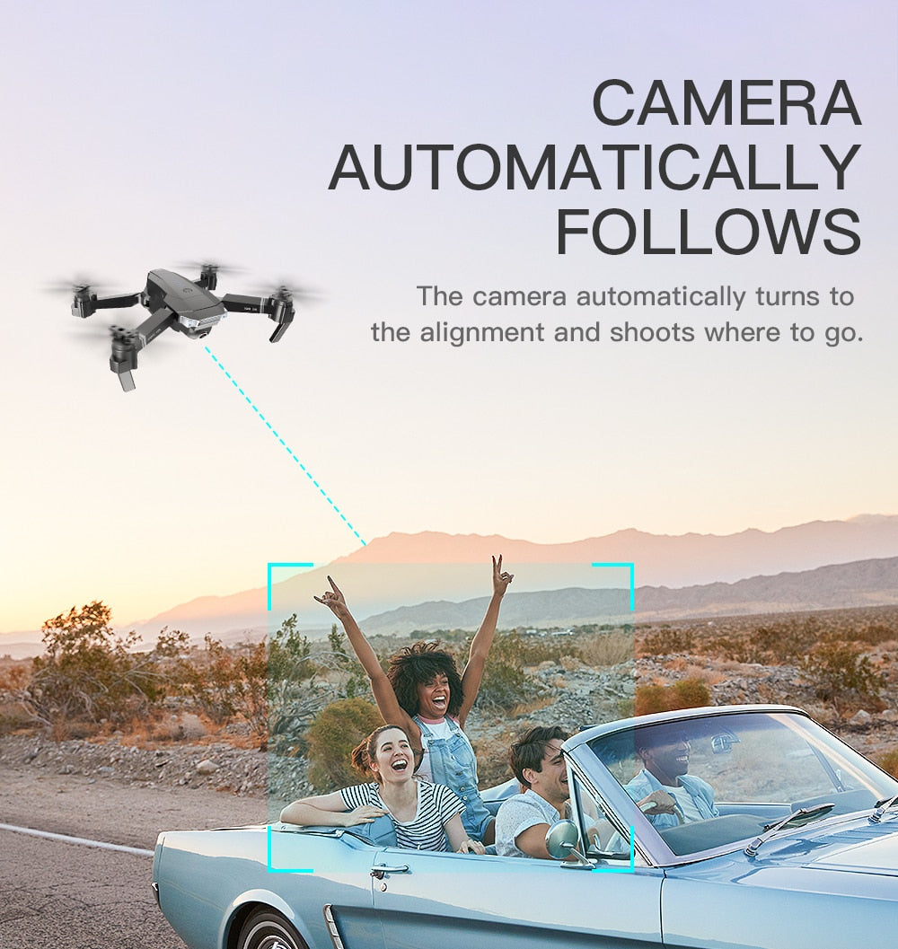 Drone X Pro 4K w/ Extra Batteries HD Camera Live Video WiFi FPV Voice Command