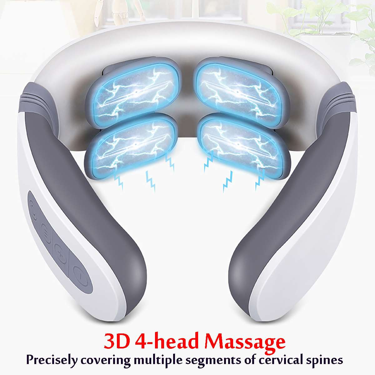Neck Massager with 4 Heads