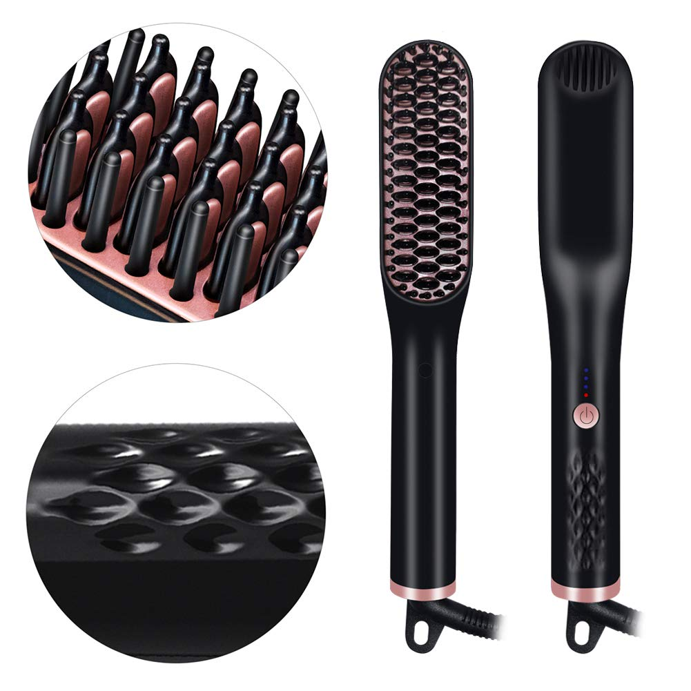 Hair straightening-brush pro