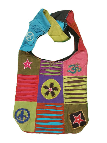 Multicoloured Hippy Cotton Shoulder Bag