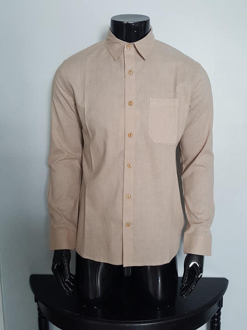Long sleeve Hemp and Cotton Shirt for Men