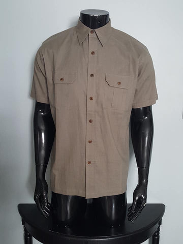 Half sleeve Linen and Cotton Shirt for Men