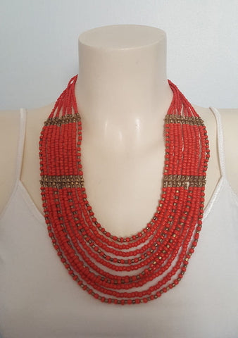 Handmade Multi layer Beads Necklace from Nepal