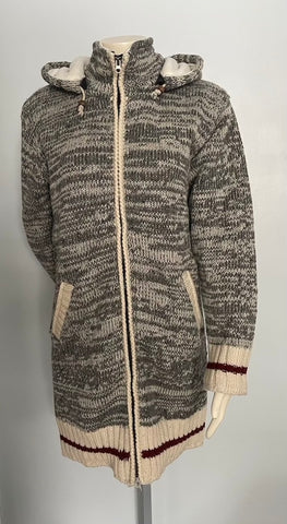 Hand Knitted Woollen Sherpa Hippie Sweater/Jacket fleece lined hoodie from Nepal